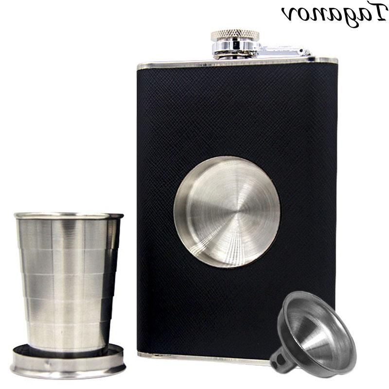 alcohol flagon shot flask stainless steel 8