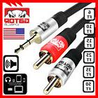 AUX Auxiliary 3.5mm Audio Male to 2 RCA Y Male Stereo Cable