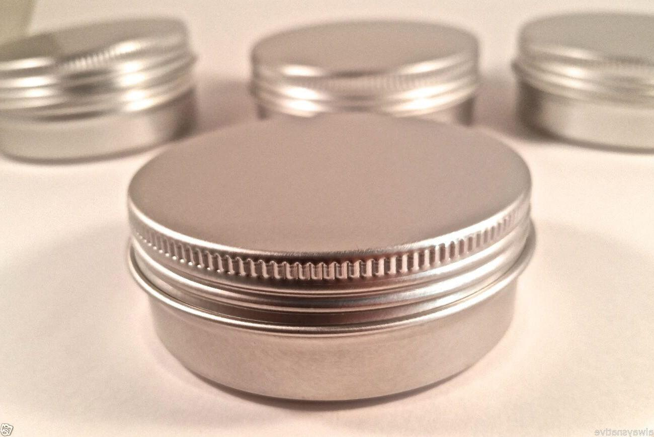 2 OZ. BLANK EMPTY SCREW TOP RUST PROOF METAL TIN CONTAINER C