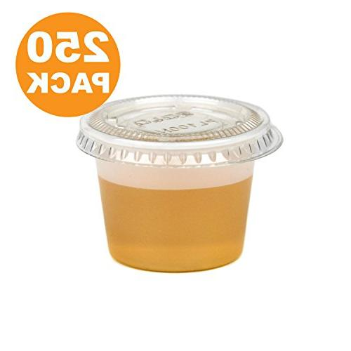 clear plastic portion cup