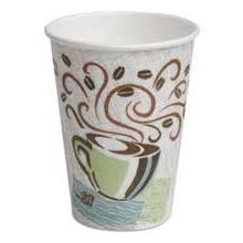 Dixie Hot Cups, Paper, 12Oz, Coffee Dreams Design, 50/Pack,