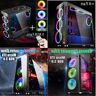 Gaming PC Computer Case RGB LED Cooling Fan Desktop Cover Mi