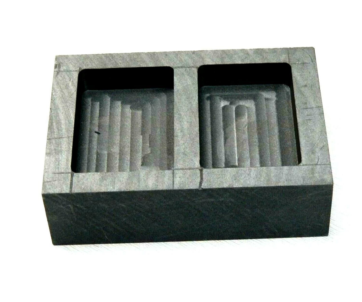 Graphite Mold & Pour Bars Silver Cavity Melting