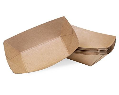 kraft disposable paper food tray