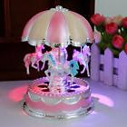 LED Horse Carousel Music Box Toys Musical Girl Boy Baby Kids