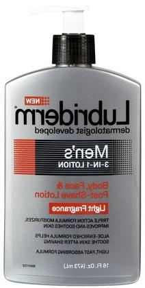 Lubriderm Men's 3-In-1 Body, Face & Post-Shave Lotion-Light