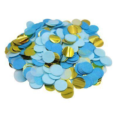 metallic gold blue paper circles