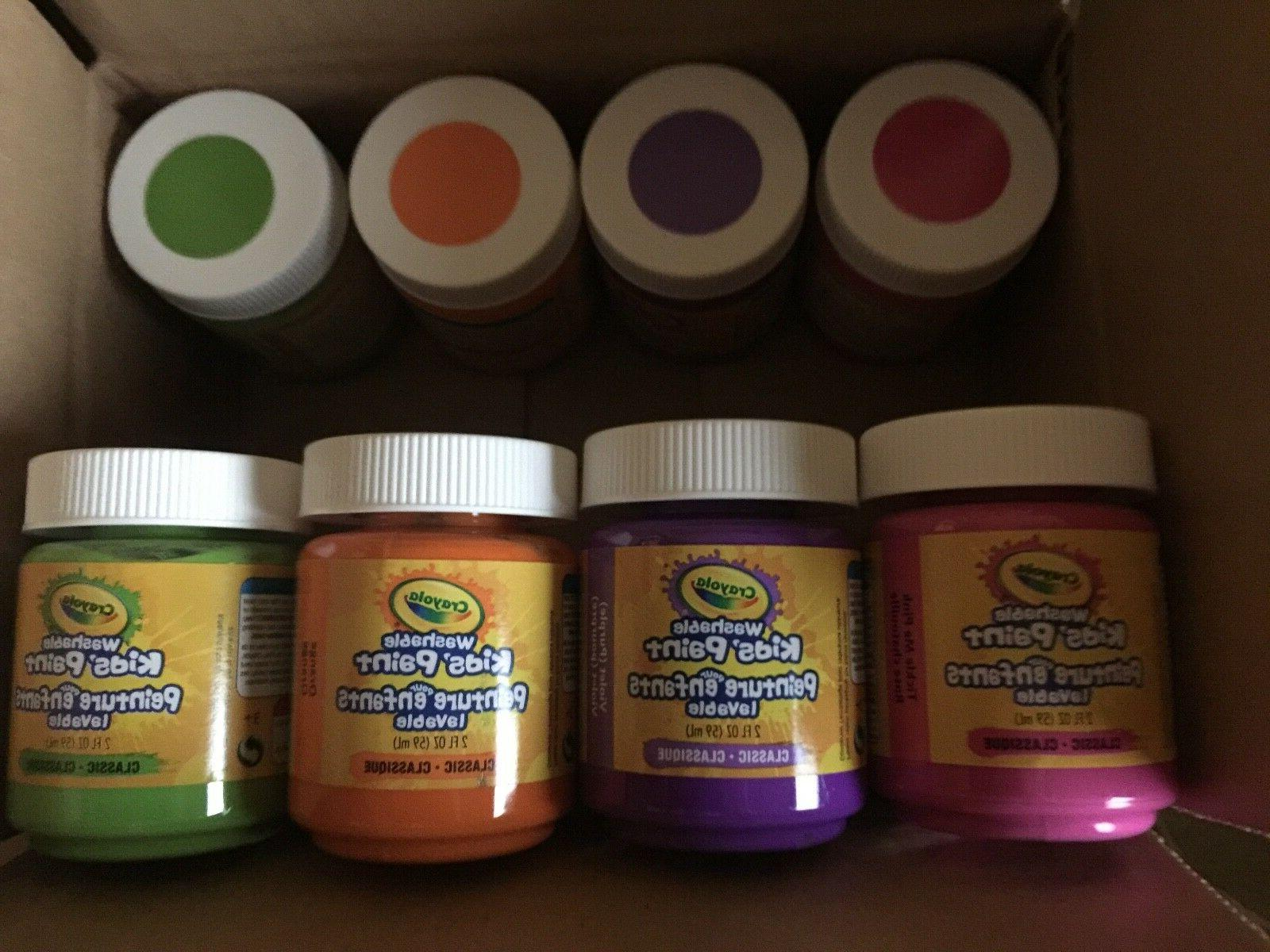 New Crayola Paint 12-Pack 2-oz 4-Colors