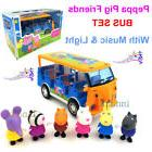 Peppa Pig Friends School Bus Included 6 Figures Toy Set with