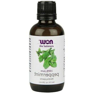 NOW 100% Pure Peppermint Essential Oil 2 oz, FRESH, Made In