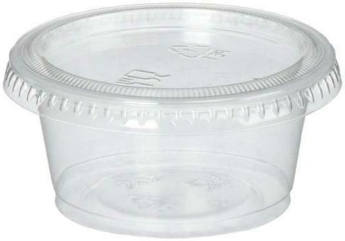 plastic disposable portion souffle cup with lids