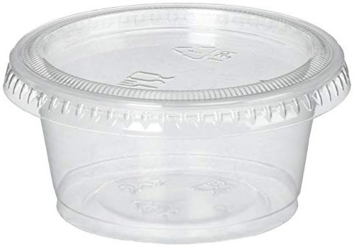 Plastic with Lids of 150 Jello Cup Dressing Containers for Souffle