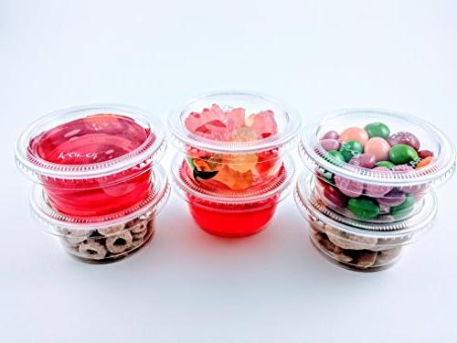 2oz Cups with Lids, Jello Shot Cups Cup Souffle Cups Slime Cups