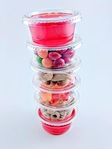 2oz Cups with Lids, LIDS FIT Jello Cups Salsa Cup Souffle Cups Cups