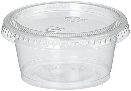 2oz Portion Cups with Lids, LIDS GREAT Jello Shot Cup Souffle Cups Sampling Cups