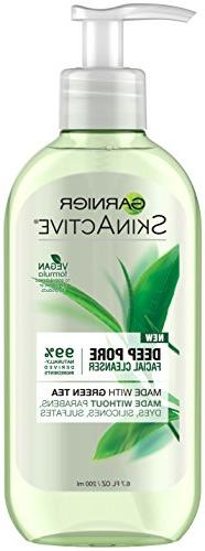 Garnier SkinActive Face Wash with Green Tea, Oily Skin,  6.7