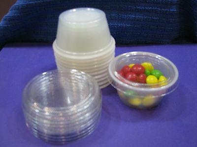 Souffle Cups & Lids 2oz. plastic-Condiment portions 50 FREE