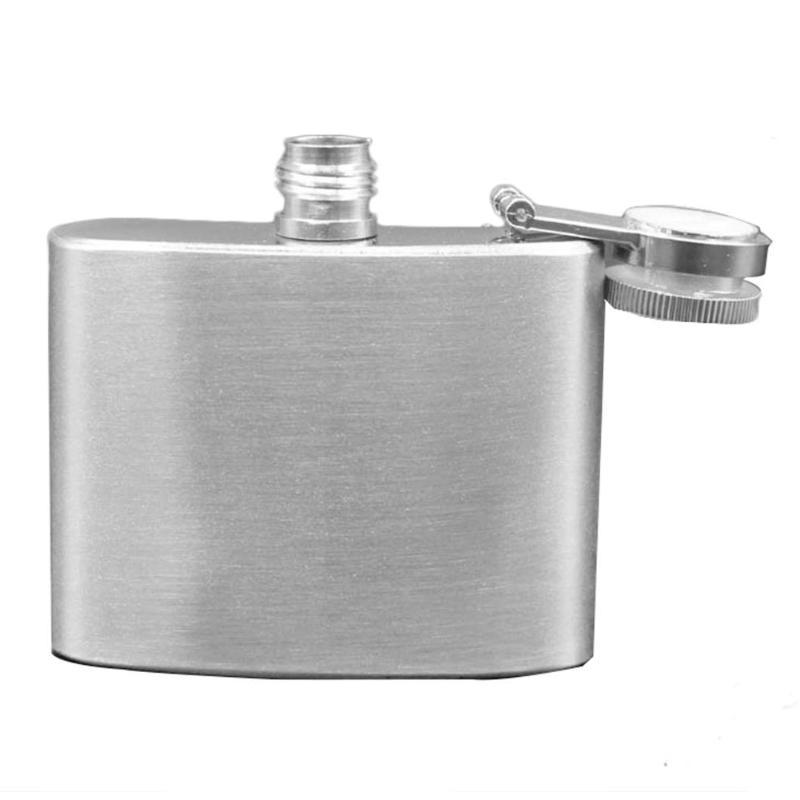 Stainless Steel <font><b>OZ</b></font> Hip Flask Portable Wine Whisky Pot Silver Bottle for Travel Outdoor Flask