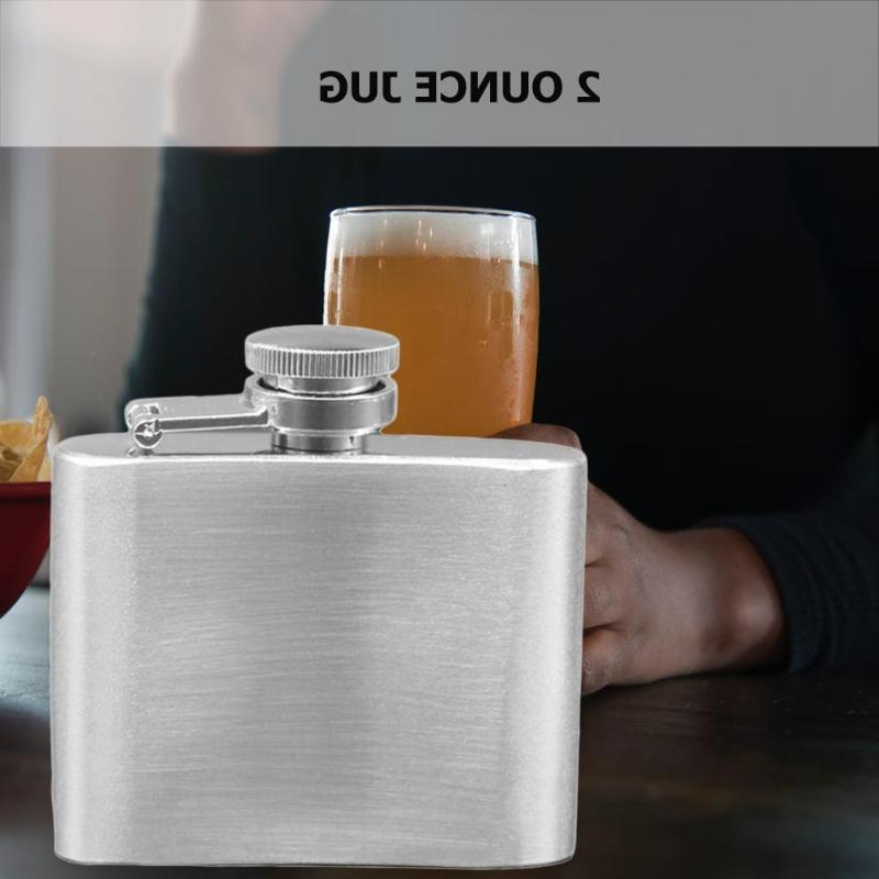 Stainless <font><b>OZ</b></font> Mini Hip Portable Whisky Pot Travel Outdoor Flask