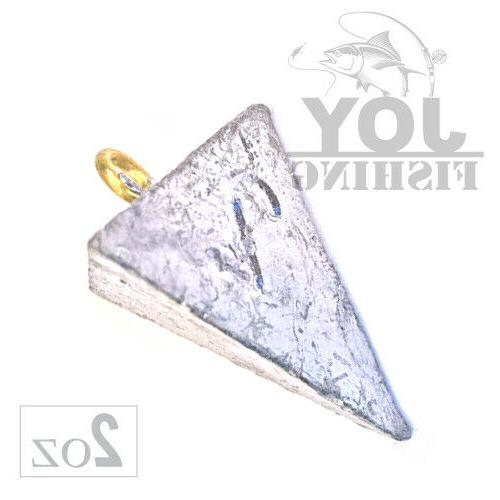 triangle 2 oz fishing sinker lead weight