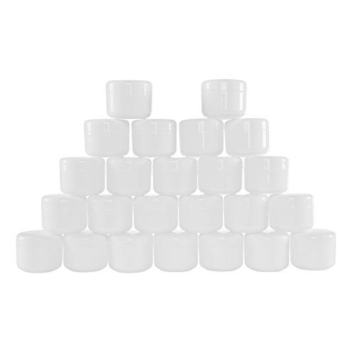 white plastic jar containers