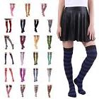 Women's Striped Thigh High Sexy Over The Knee Stockings Extr