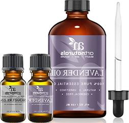 Art Naturals Lavender Essential Oil 4 oz 3pc Set - Includes
