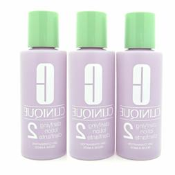 Lot of 3 Clinique Clarifying Lotion #2 Dry Combination 2 oz*