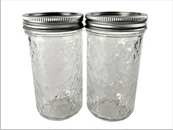 Ball Mason Jar Jelly Jars 12 oz. Quilted Crystal Style Regul