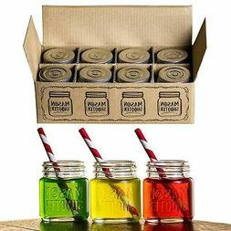 Hayley Cherie - Mason Jar Shot Glasses with Lids  – Mini M