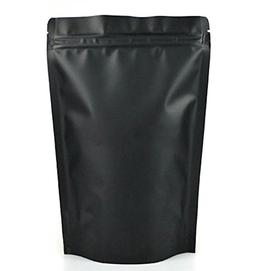 "Matte Black 4"" X 6 ¾"" Aluminum Foil Stand Up Zipper Pou"