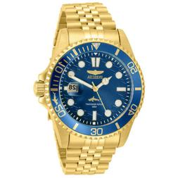 Invicta Men's Watch Pro Diver Quartz Blue Dial Yellow Gold B