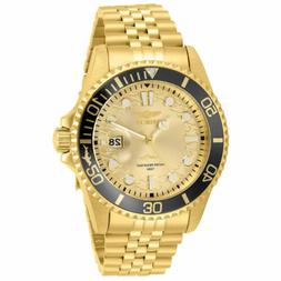 Invicta Men's Watch Pro Diver Yellow Gold Plated Stainless S