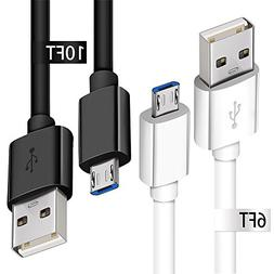 Micro USB Charging Cable, 2 Pack Android Phone Fast Charger