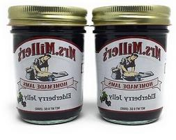 Mrs Millers Elderberry Jelly Amish Made ~ 2 / 9 Oz. Jars