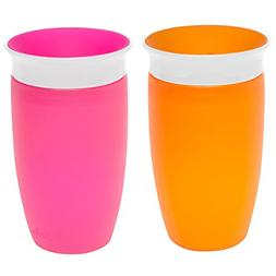 Munchkin Miracle 360 Sippy Cup, Pink/Orange, 10 Ounce, 2 Cou