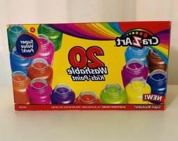 New Washable Kids drawing Paint by Cra-Z-Art 20 Colors 2fl E