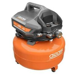 RIDGID Pancake Air Compressor 6 Gal. Portable Electric Locki