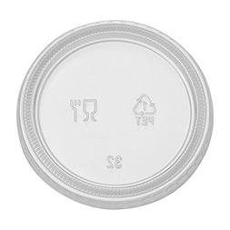 Dixie PL40CLEAR  Plastic Portion Cup Lid, Fits 3.25 oz., 4 o