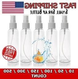 2 oz 60 mL Small Clear Transparent PET Plastic Empty Round S