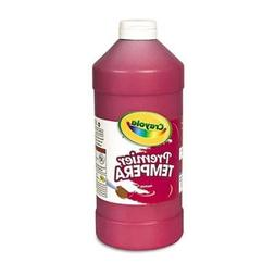 Crayola Premier Tempera Paint, Red, 16 Oz, Case of 2
