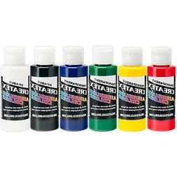 Createx Colors 2 oz Primary Airbrush Paint Set