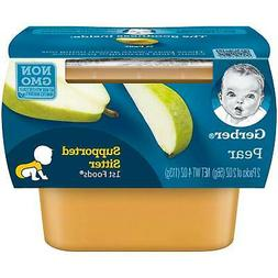 Gerber Purees 1st Foods Pear Baby Food Tubs, 2 Ounce