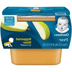 Gerber Purees 1st Foods Pear Baby Food Tubs, 2 oz, 2 ct
