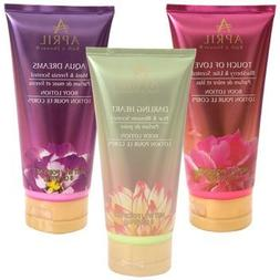 April Bath & Shower Scented Body Lotion Gift Set