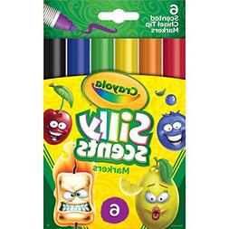 Crayola 58-8197 Silly Scents Scented Markers, Washable, 6 Co