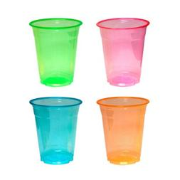 Party Essentials Soft Plastic 12-Ounce Party Cups and Tumble