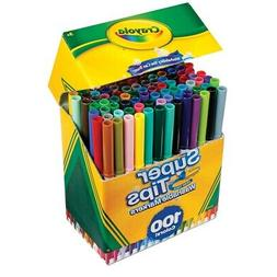 Crayola Super Tips Washable Markers 100 Colors Set
