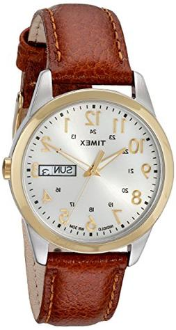 Timex Men's T2N105 South Street Sport Brown Leather Strap Wa