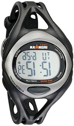 Timex Men's T54281 Ironman Sleek 50 Full-Size Black/Silver-T
